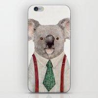 koala iPhone & iPod Skins featuring Koala by Animal Crew
