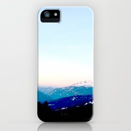 Mountain views abstracted to color blocks iPhone Case