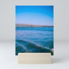 Ocean Pier Glow Mini Art Print