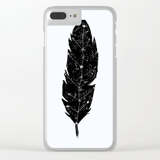 Constellation Feather Clear iPhone Case