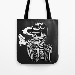 Military skeleton illustration - Soldier skull Tote Bag