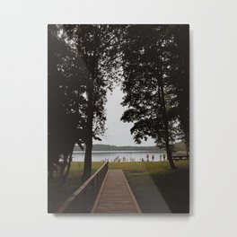 Day by the lake Metal Print