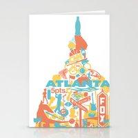 atlanta Stationery Cards featuring Atlanta, GA by ahutchabove