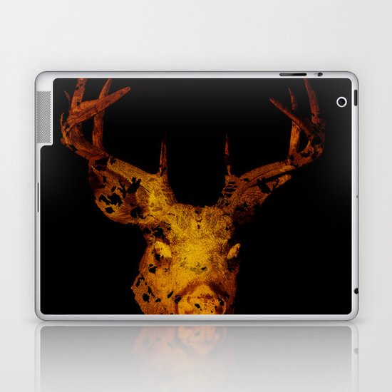 Cervus (Gold Negative Version) Laptop & iPad Skin