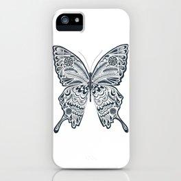Blue Butterfly Mandala iPhone Case