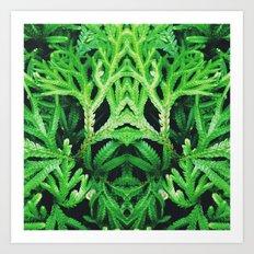 50 Shades of Green (4) Art Print