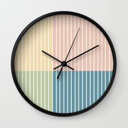 Color Block Line Abstract VII Wall Clock