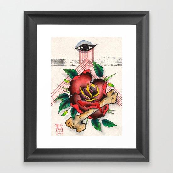 The Eye, The Rose, The Bone Framed Art Print