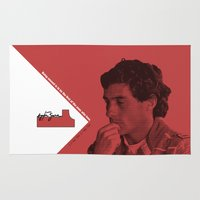 senna Area & Throw Rugs featuring Ayrton Senna 1960-1994 by design.declanhackett