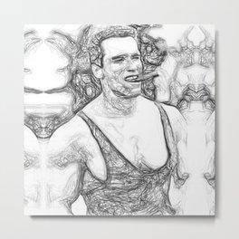 Arnold Schwarzenegger - Pencil Art Metal Print