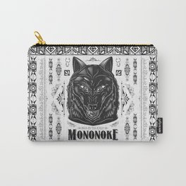 Mononoke Hime Wolf Pride Letterpress Line Work Carry-All Pouch
