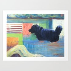 River Dog Art Print