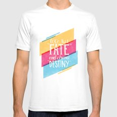 Let's Test Fate MEDIUM Mens Fitted Tee White