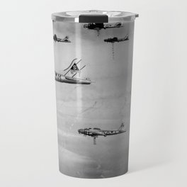 US Air Force Planes Dropping Bombs Over Germany - 1945 Travel Mug