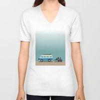 vans V-neck T-shirts featuring Surf Vans by Billy Hrncir