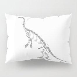 Dinosaur skeleton illustration Pillow Sham