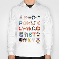 pixar Hoodies featuring P is for Pixar (Pixar Alphabet) by Mike Boon