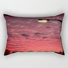British Winter Sunset Rectangular Pillow