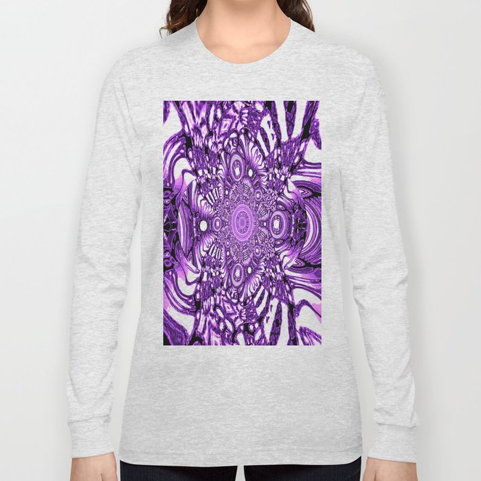 Precisely Abstract (Purple)  Long Sleeve T-shirt