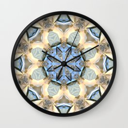 Blue And Gold Mandala Wall Clock