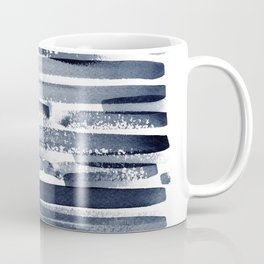 Abstract Navy Blue Print Coffee Mug