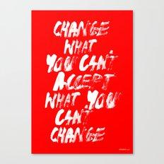 Accept / Change Canvas Print