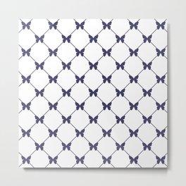 Simple Butterfly pattern Metal Print