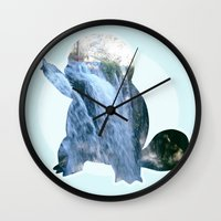 squirtle Wall Clocks featuring Squirtle  by Jessica Draper
