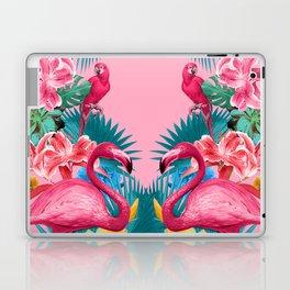 Flamingo and Tropical garden Laptop & iPad Skin