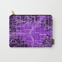 Denver Colorado map, year 1958, purple filter Carry-All Pouch