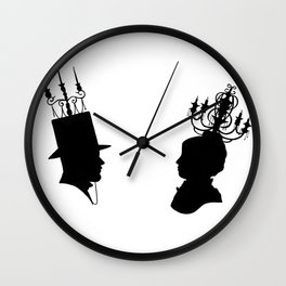 Be Our Guest   @makemeunison Hand Drawn Art Wall Clock