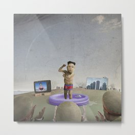 The Child Dictator—Kim Jung Un Metal Print