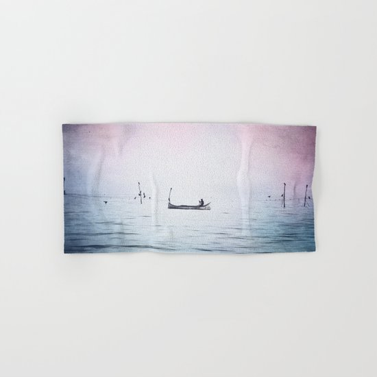 The Lonely Man and The Infinite Sea Color Version Hand & Bath Towel