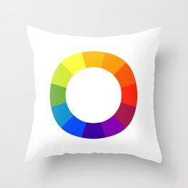 Pantone color wheel Throw Pillow