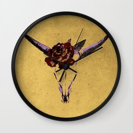 Grunge Animal Skull Wall Clock