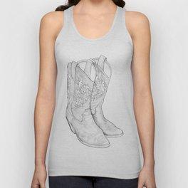 Cowboy Boots Unisex Tank Top