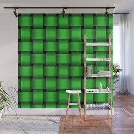 Large Lime Green Weave Wall Mural