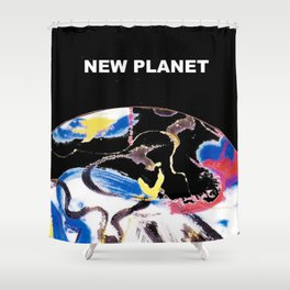 NEW PLANET     by    Kay Lipton Shower Curtain