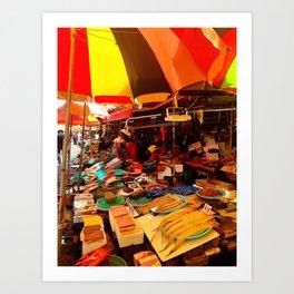 Jagalchi Market Art Print