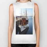 oslo Biker Tanks featuring Classic Boats In Oslo by Malcolm Snook