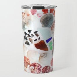Shark Teeth and Sea Glass Travel Mug
