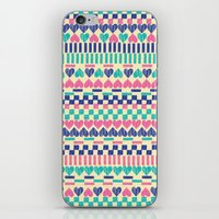 hearts iPhone & iPod Skins featuring Hearts by Lydia Meiying