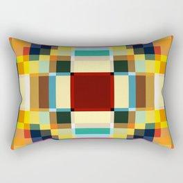 Sirin - Colorful Decorative Abstract Art Pattern Rectangular Pillow
