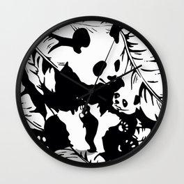 PANDA  MAMA AND ME Wall Clock