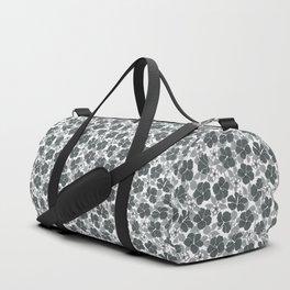 Hibiscus and Plumeria Stylish Gray Duffle Bag
