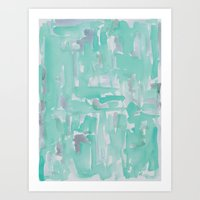 aqua Art Prints featuring Aqua by Georgiana Paraschiv