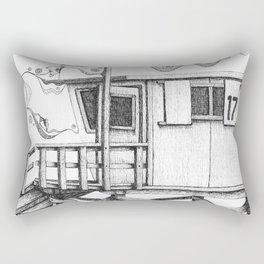 Lifeguard Tower Rectangular Pillow
