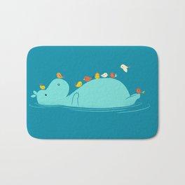 Floating Hippo Bath Mat