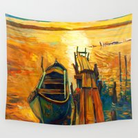 boat Wall Tapestries featuring Boat by BOYAN DIMITROV