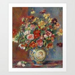 """Pierre-Auguste Renoir """"Vase de fleurs"""" Art Print"""
